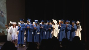 The Codman Acedemy graduating class of 2014.  Shantilee (far right) was the 2014 recipient of the Believe in Codman Youth Scholarship and we wish her all the best!